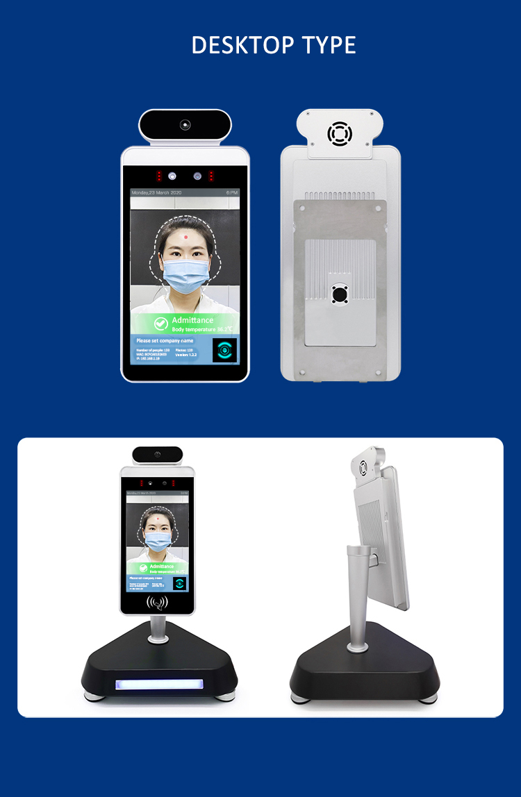 Body Facial And Attendance Machine Temperature Device Face Recognition Face Scanner Kiosk