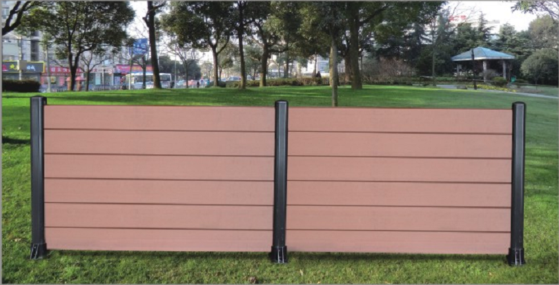 Easy-to-install low maintenance euro style multiple colors garden wpc aluminum composite fence panels for yard