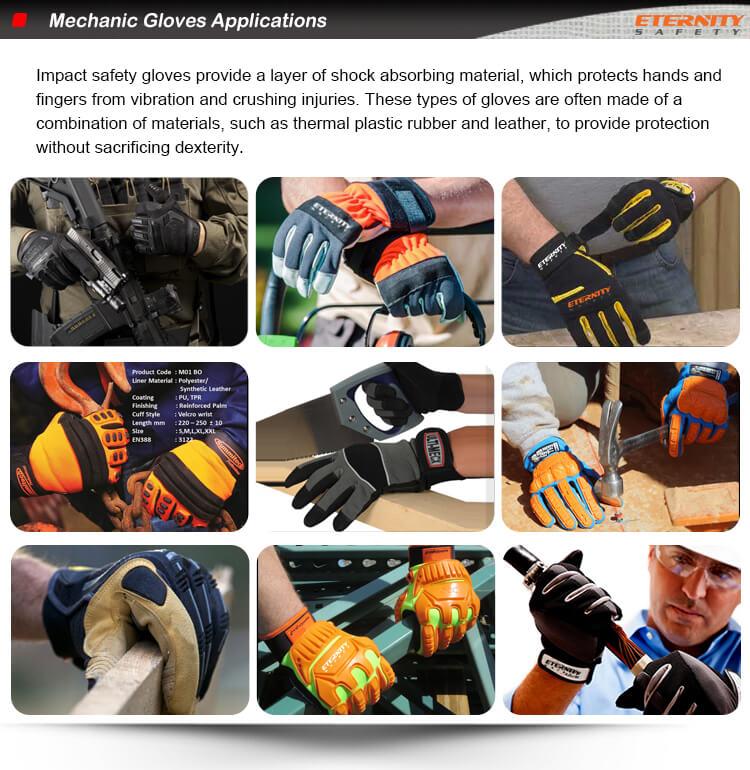 Couro sintético de microfibra pad palma covert tactical tela sensível ao toque atacado anti impacto da vibração mecânica luvas de segurança do trabalho