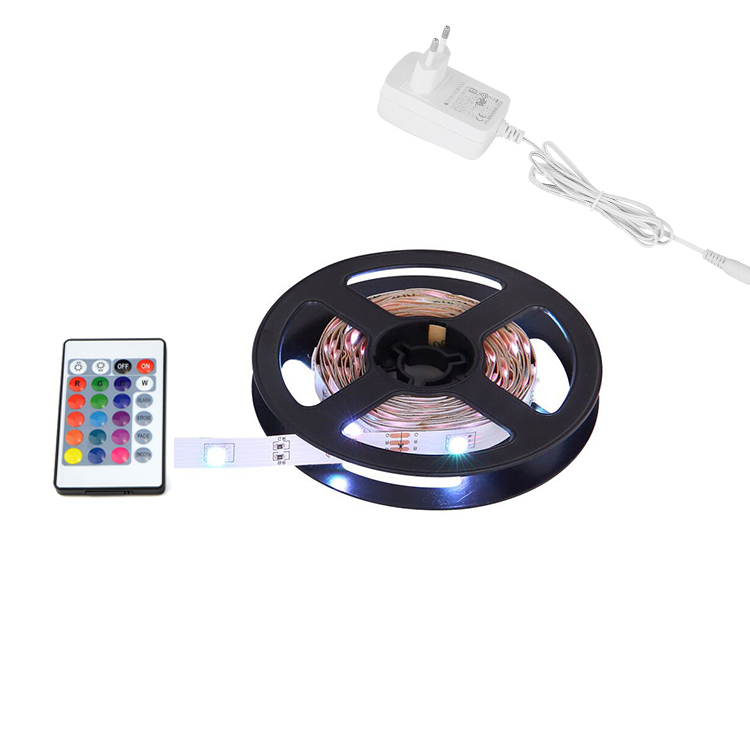 Factory Wholesale 5M IP20 IP65 Color Changer  5050 RGB Led Strip Light With Remote