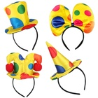 Factory direct price carnival party headband clown bow hairband
