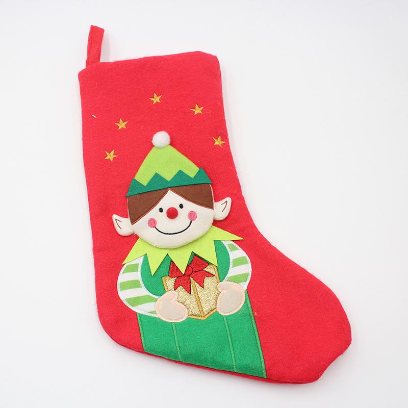 Hanging Socks  Stockings Christmas Ornament Candy Bag Xmas Tree Decor