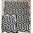 Panda marble mosaic white black chips mixed for wall floor tiles
