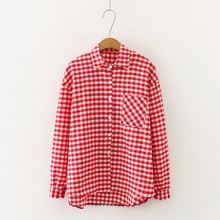 Große <span class=keywords><strong>größe</strong></span> frauen 2019 frühling und herbst neue plaid shirt frauen lange ärmel lange <span class=keywords><strong>lose</strong></span> damen hemd