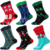 F-4950 new year 2020 happy snow tree pattern christmas sock cotton high tube funny socks in stock