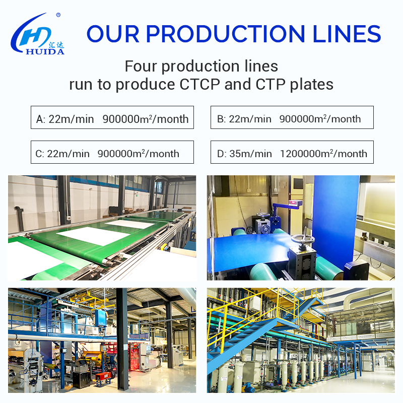 Huida offset Printing CTP Plate Positive huaguang CTCP CTP Thermal Plate
