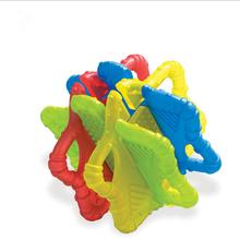 Детские игрушки для прорезывания зубов, строительные блоки, силиконовые шарики для прорезывания зубов, Детские массажные прорезыватели, де...(Китай)