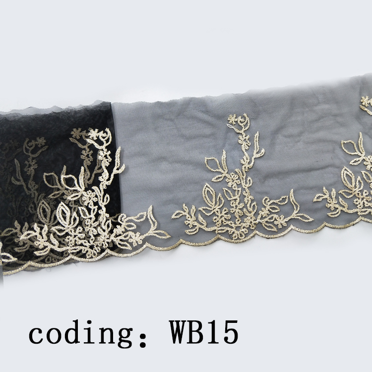 Knitting mesh lace trims with high quality factory supply