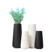 Wholesale White Black Glazed Ceramic Porcelain Vase For Home Table Decoration