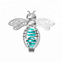 Honig Biene anhänger mit perle caged 925 sterling silber schmuck Tiny bee hohl medaillon Bumble bee halskette