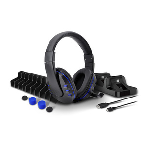 DOBE 5 In 1 Gaming Pack Stereo Headset Gaming Headphone for Paly Station PS4 / PS4 Slim / PS4 Pro