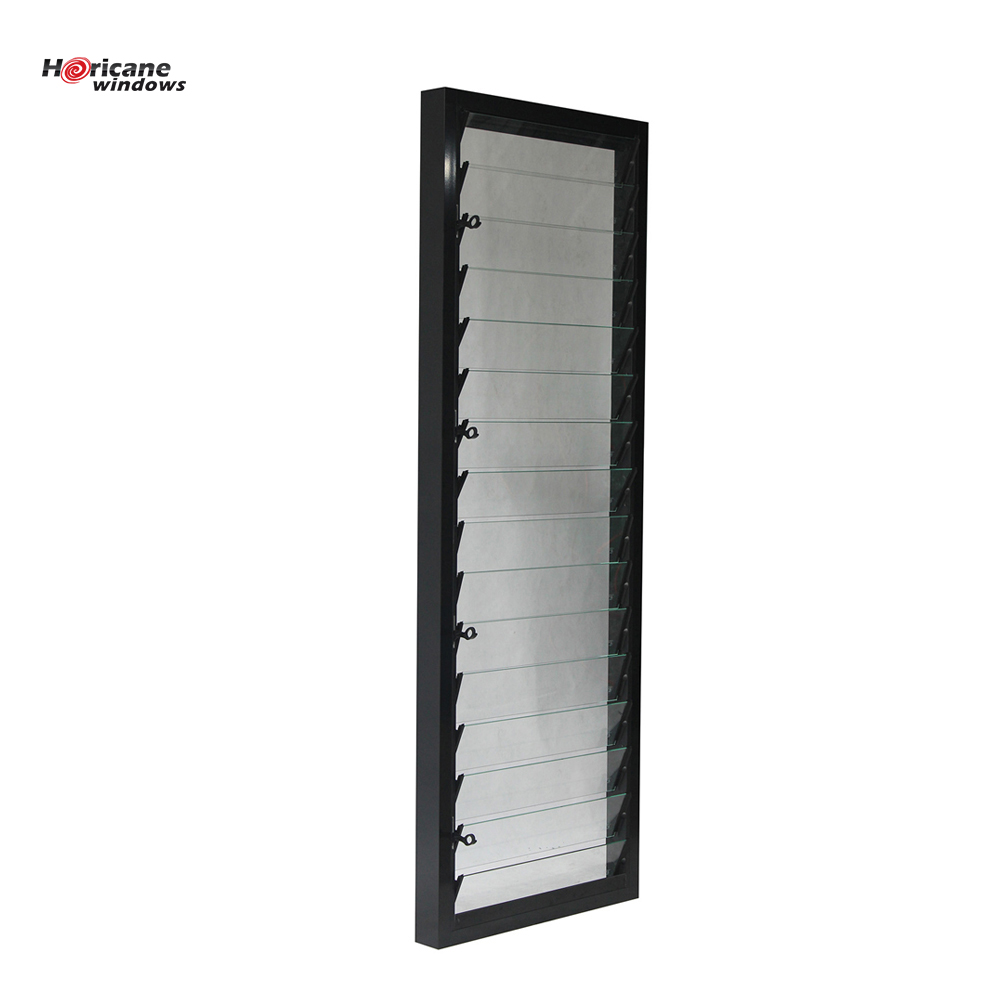 New design factory prices powder coated glass jalousie aluminium louver window