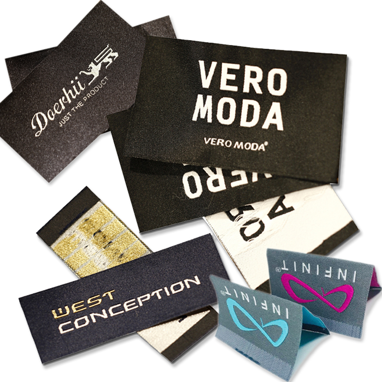Wholesale Custom Fabric Cloth Tag Damask Clothing Woven Label