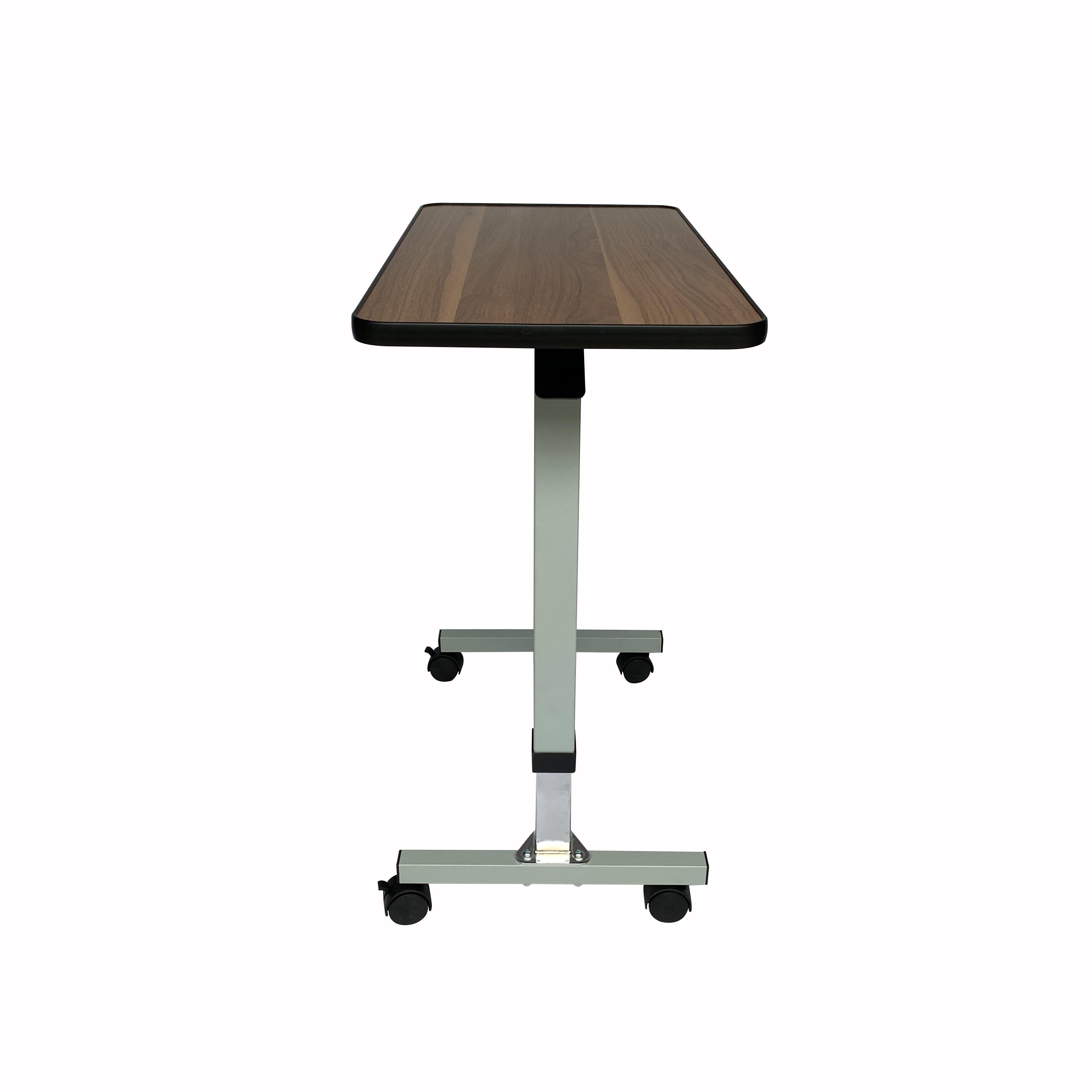 Над кроватью столик подвижного стола с Запираемые колеса, медицинский портативный ноутбук стол 3 уровня регулировки, лоток для телевизора