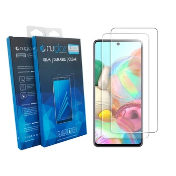 Nuglas 2pack mobile phone accessories tempered glass screen protector for Samsung Galaxy A21S