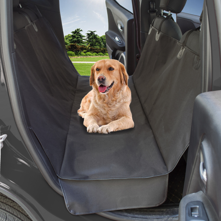 Wholesale Pet Car Seat Cover rear single layer waterproof and abrasion resistant with side flaps leather <strong>edging</strong> car seat cover