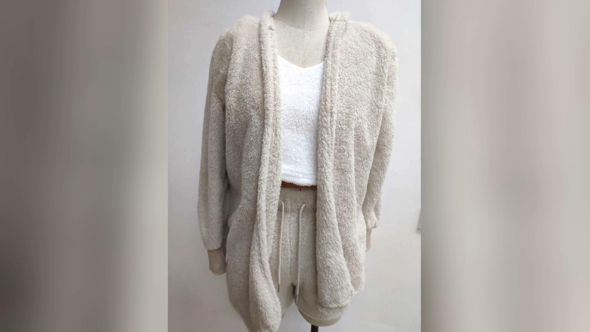 Winter Warm Vrouwen Slapen Dames Pluche 3 Stuks Pyjama Set Plus Size Nachtkleding