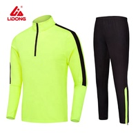 Wholesale children training polyester slim fit tracksuit for men