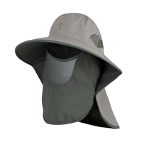 High Quality UV Protection Fishing Hiking Sun Hats Custom Bucket Hat With String Bucket Hat with Neck Shade Flap