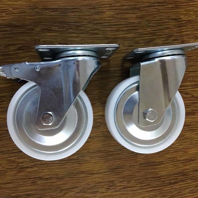Medium Duty 100mm 4 inch White PP Swivel Castor Wheels