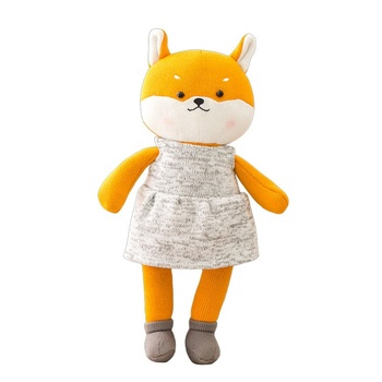 Free Sample Custom Fashion Soft Orange Fox Toy Promotion Cute Plush Fox