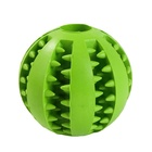 Pet Rubber Ball Food Treat Feeder Pet Tooth Cleaning Toy Dog Chew Toy Soft Dog Treat Rubber Balls