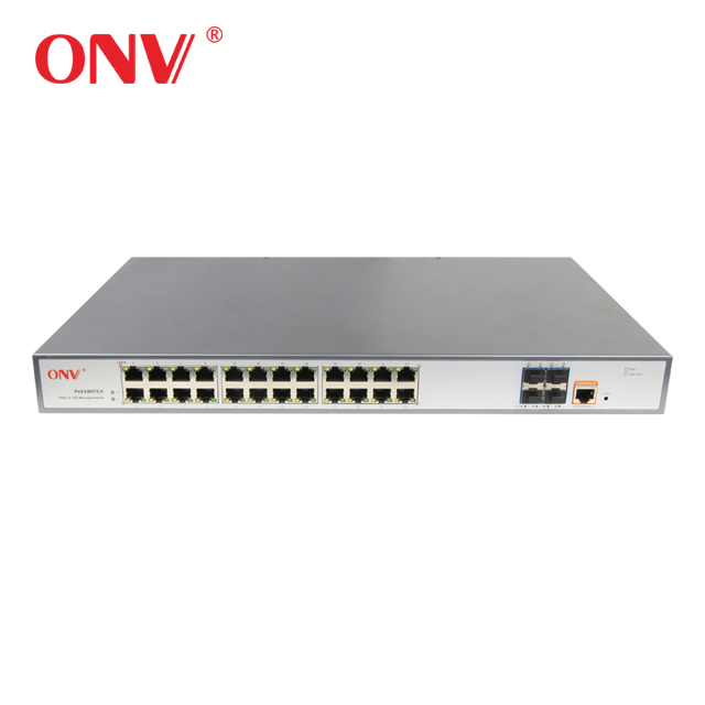 Layer 2 managed OEM <strong>24</strong> gigabit network switch with 4 10G SFP <strong>port</strong> for cctv camera(ONV36028FM)