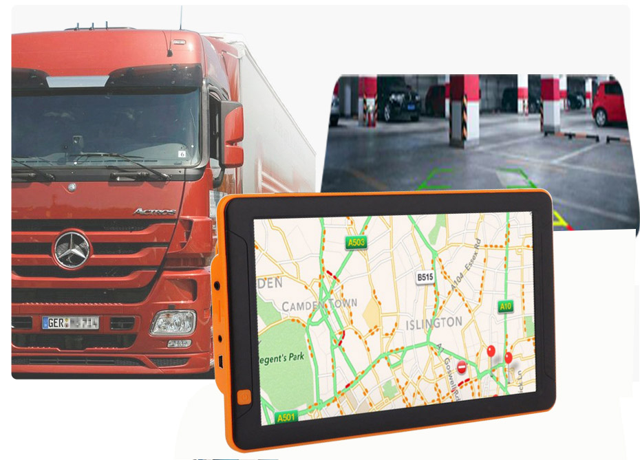 Android  wifi 9inch Truck GPS Big Touch screen gps navigation 9 inch Truck mirror navigation & gps