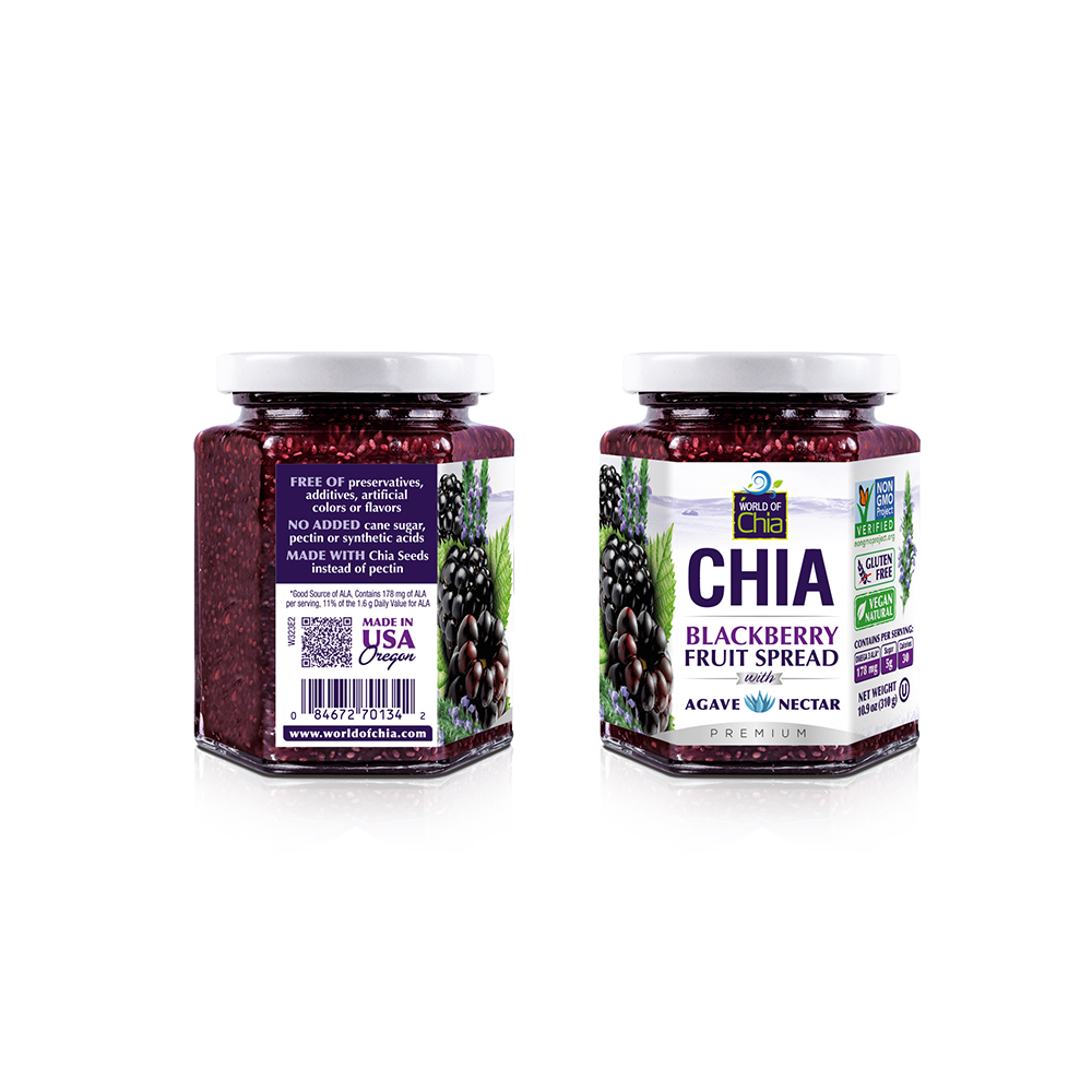 Real Natural Superior Fruit Spread Organic Preserved Blackberry Fruit Sauce