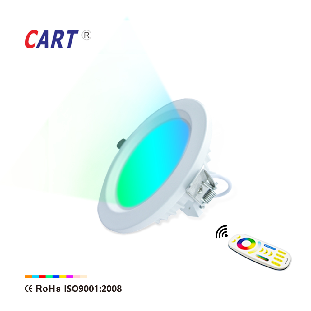 energy saving long life span 6inch rgb color changing dimmable slim round led down light