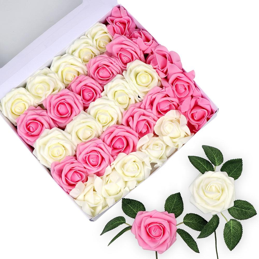 2019 Hotsale Модные Шелковые искусственные цветы для DIY букеты Свадебная вечеринка Baby Shower домашний декор