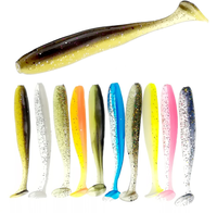 Fishing lure soft plastic lure T tail worm bait