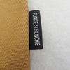 garment custom woven cotton canvas neck sleeve fabric Printed shirt Label clothing tag