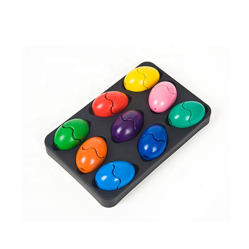 eco friendly crayons novelty colors stackable easter egg crayons 9 colors