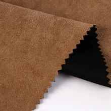 Compound suede double sided durable black brown elastic / stretch fabric