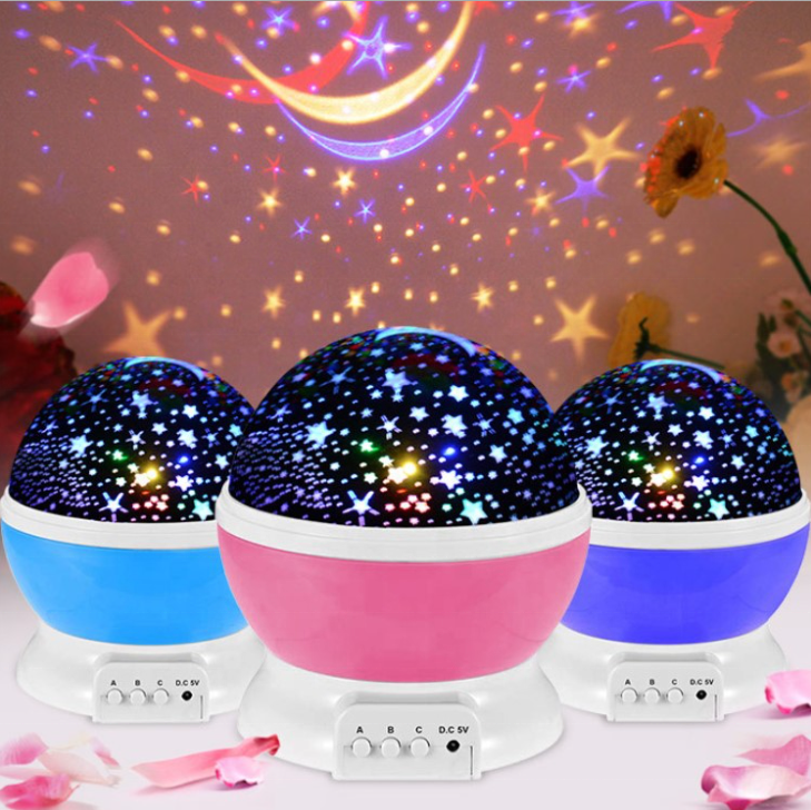 3D Popular Kid's Room Decor RGB Ocean Night fairy Dream Moon Star Lamp Master Starry Sky Projector Led Lamparas Galaxy Light