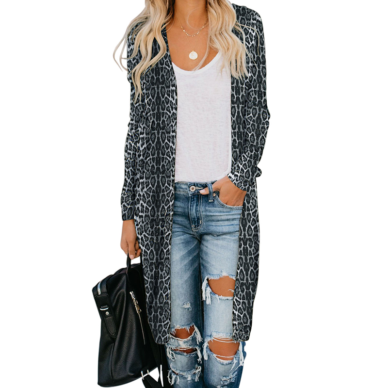 Spring &amp; Autumn Fashion Print Women <strong>Long</strong> Sleeve <strong>Cardigan</strong>