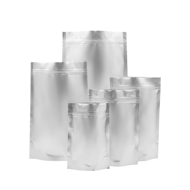 カスタム卸売アルミホイルジップロックバッグスタンディングポーチpeジッパーバッグプラスチック食品バッグ包装