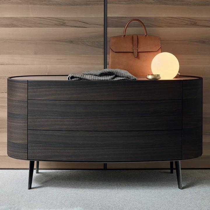 Traditional elegant design nightstand wooden bedside table hot sale design