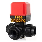 Free Shipping DN25 AC 220V 3 Way Motorised Motorized Flow Control Motor Valve Automatic Drain Valve Motor drive Valve 1""