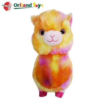 hot sale popular cute soft stuffed plush alpaca fur toys animal