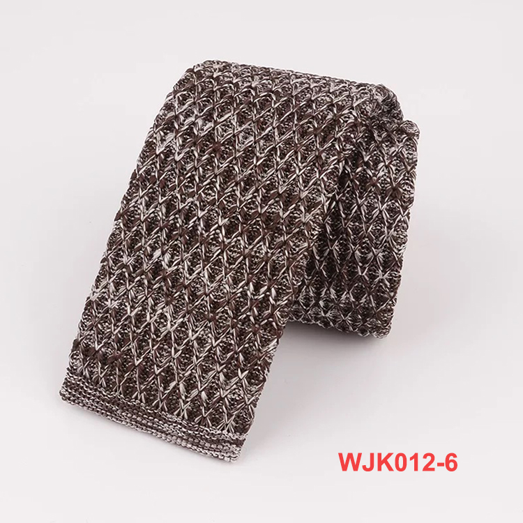 2019 New Design Plain Classic Polyester Mixed Color Knitted Neck Ties