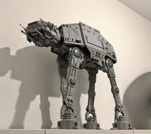 MOC Legoins Звездные войны вездеходная бронированная прогулочная машина AT-AT модель совместима с Lepins детская сборка игрушка мальчик подарок(Китай)