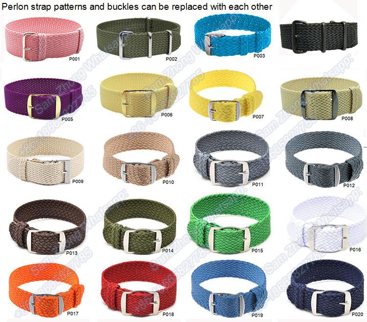 En gros Multi Couleur Bande de Montre-Bracelet En Nylon Zoulou 22 bracelet de montre en nylon