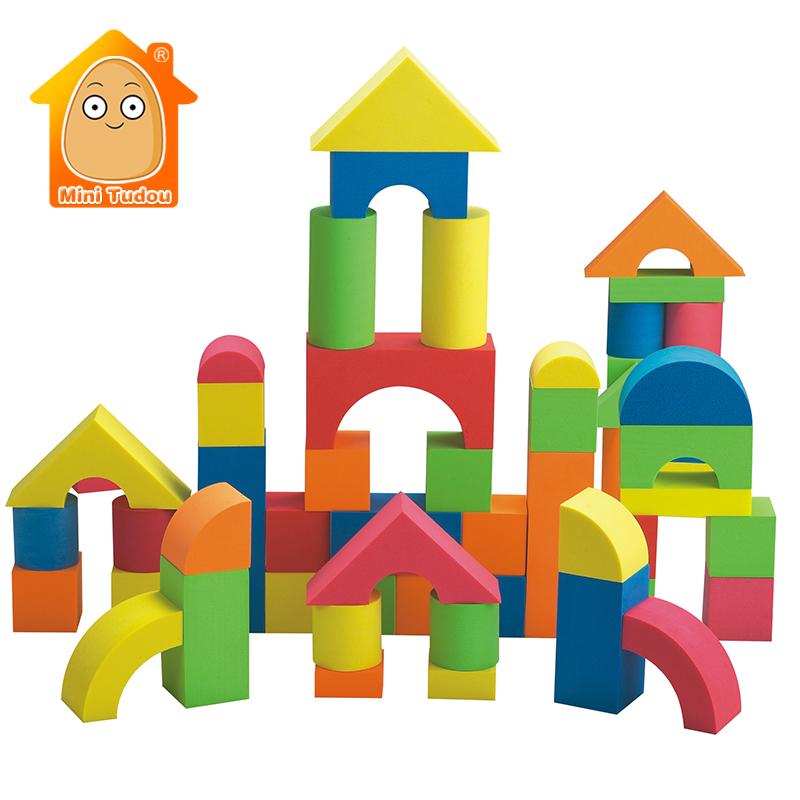 Мягкие строительные блоки из вспененного этиленвинилацетата, гигантский замок, игрушка для укладки, строительные игрушки разных форм и размеров, яркие цвета