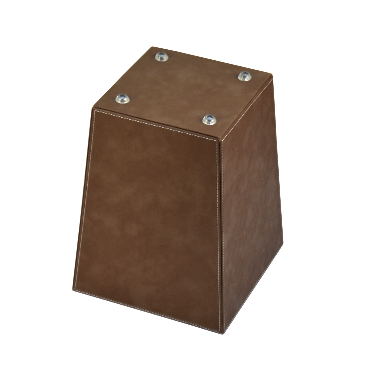 Recycle Custom Logo Size Multi Functional Industrial Hotel Waste Leather Bin