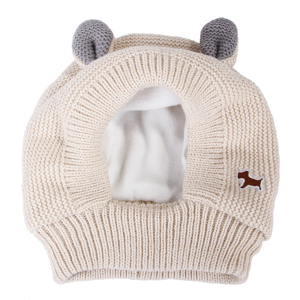 Best selling warm windproof pet hat cute big ears shape dog winter hat