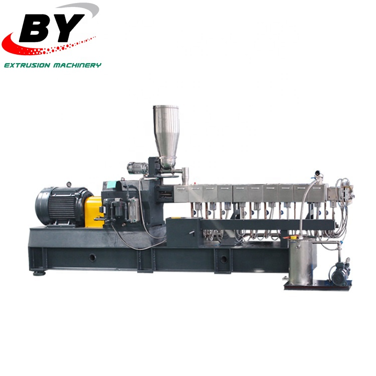 Double Vis En Plastique PET Flocons Fiber Recycler Extrudeuse Granulateur Machine