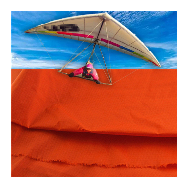 silicone and pu coated ripstop nylon paraglider and parachute fabric