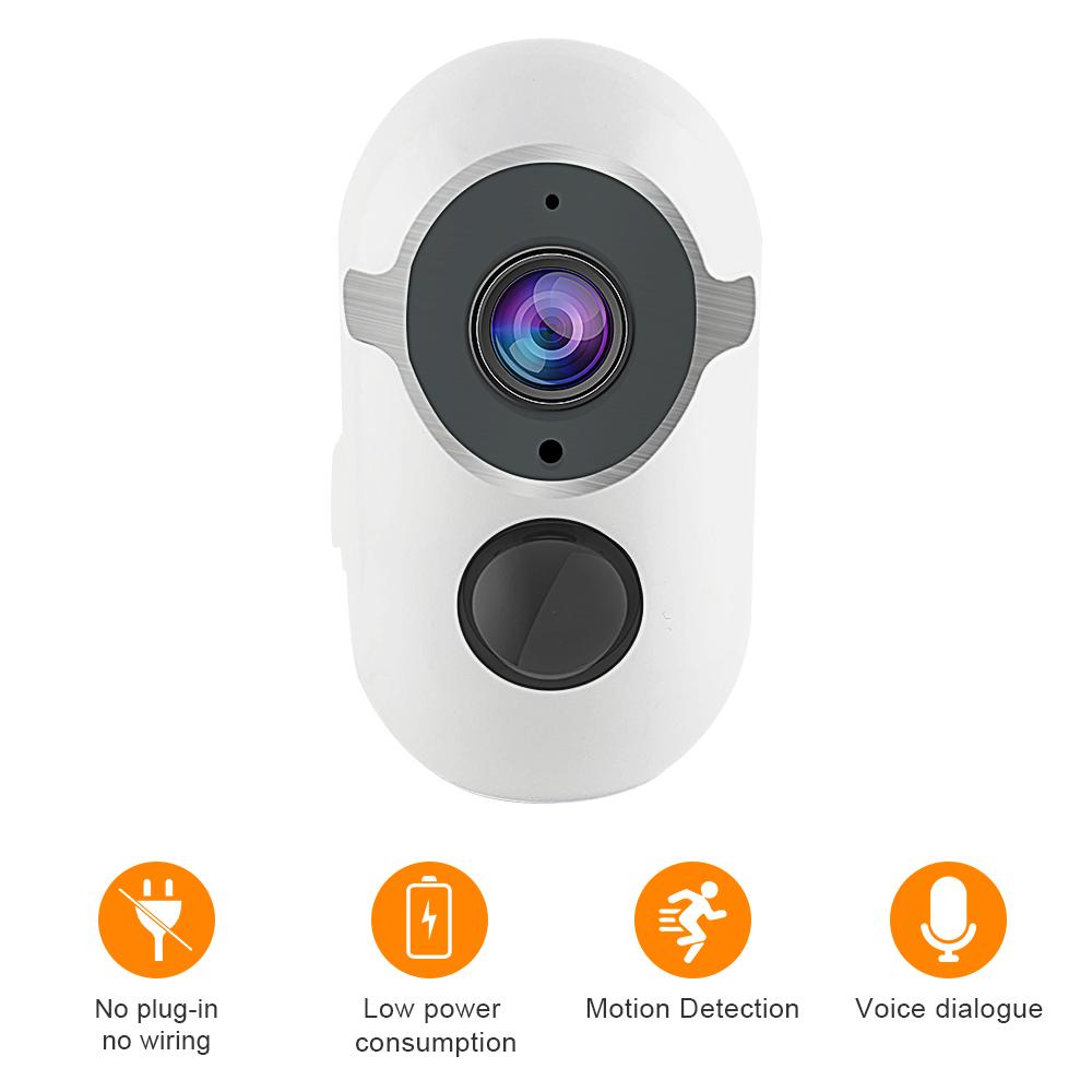 1080P Night Vision Rechargeable Battery Home Security Camera Solar Powered Surveillance Camera Camara PIR CCTV